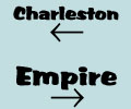 Charleston, Oregon to the left, Empire to the right