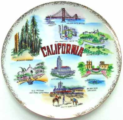 California - Plate Front