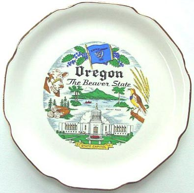 Oregon The Beaver State - Plate Front