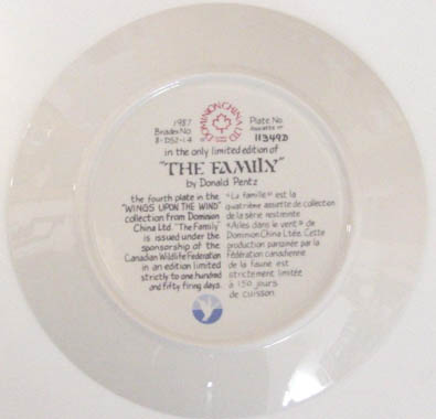 The Family - by David Pentz - Plate Back
