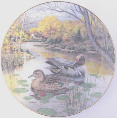 The Green-Winged Teal - by Bart Jerner - Plate Front