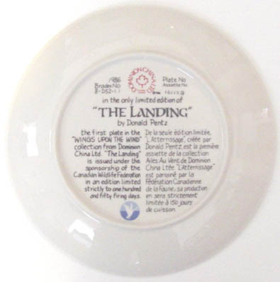 The Landing - by David Pentz - Plate Back
