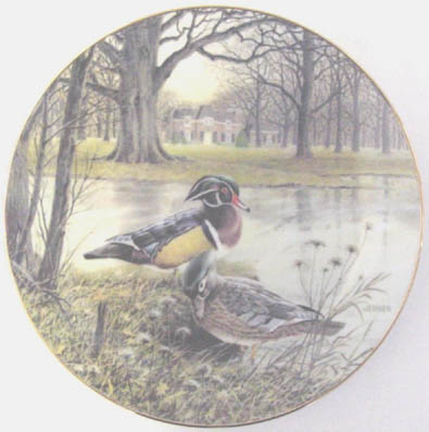 The Wood Duck - by Bart Jerner - Plate Front