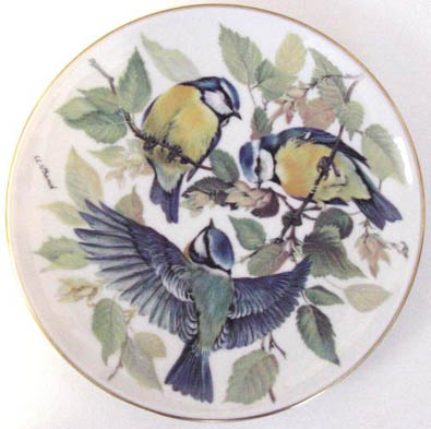 Blaumeise Blue Titmouse - by Ursula Band - Plate Front