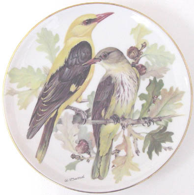 Pirol - Golden Oriole - by Ursula Band - Plate Front